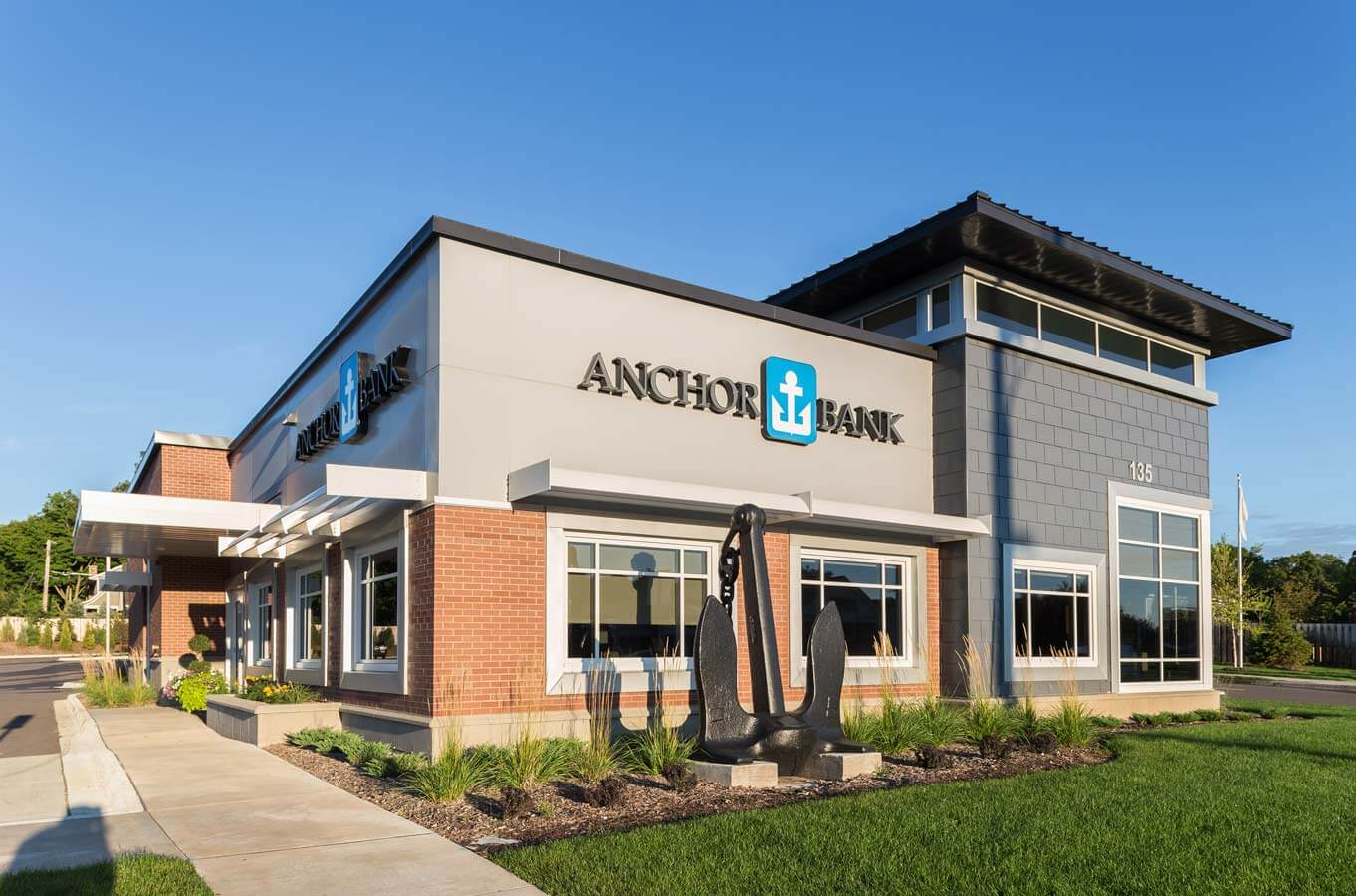 Anchor Bank Wayzata Site Planning Bank Architecure