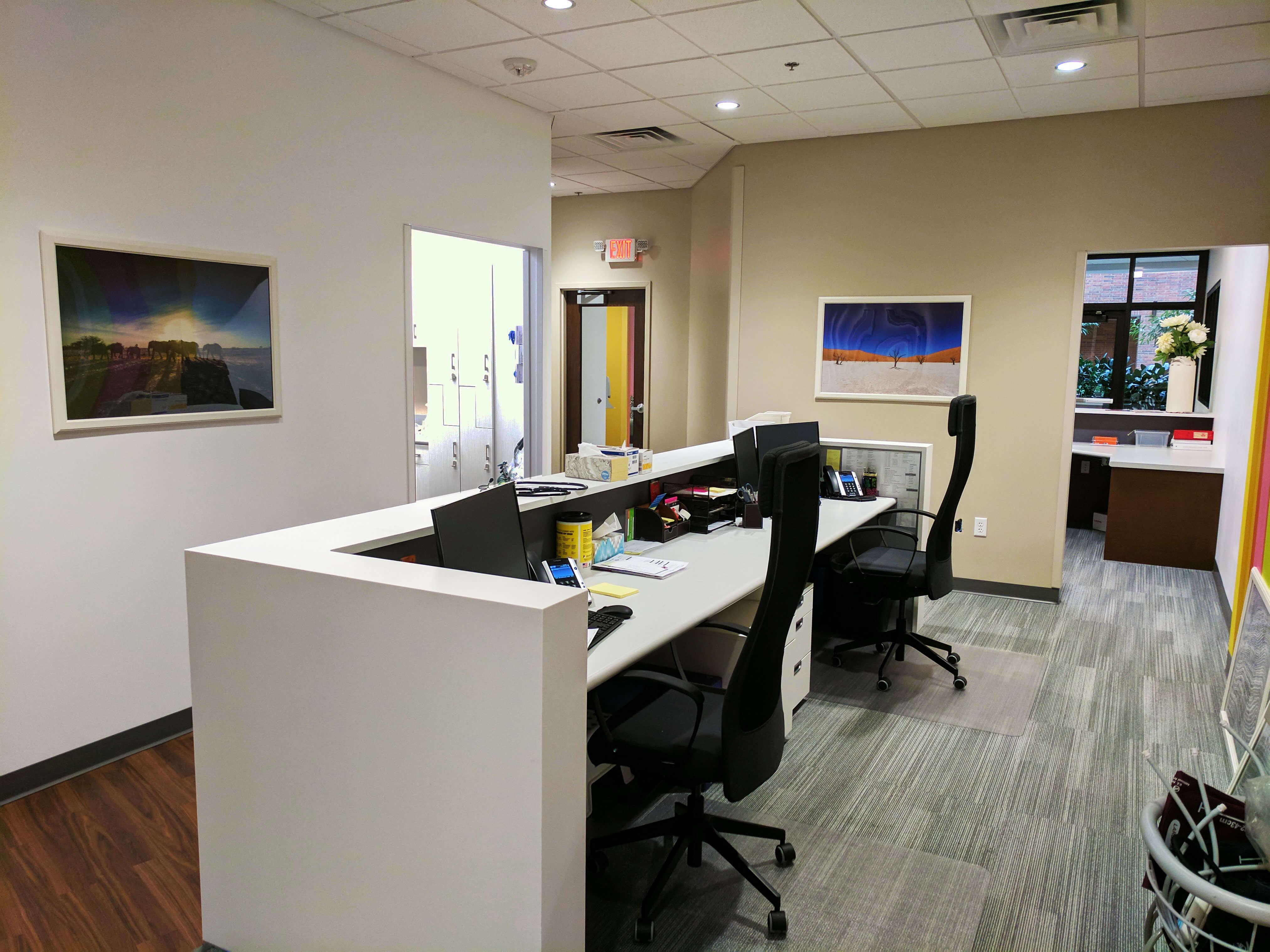 Grow Pediatrics administrator desks